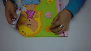 Download Carpeta, Forro, Tapa para Cuaderno en Foamy, Goma Eva, Microporoso, Easy Crafts Video