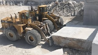 Download Cat And Komatsu Wheel Loaders In The Biggest Marble Quarry Of Europe - Birros Marbles Video