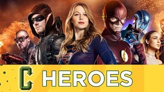 Download CW's DC Crossover Preview - Supergirl, The Flash, Arrow, Legends of Tomorrow - Collider Heroes Video