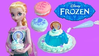 Download Queen Elsa Disney Frozen Whipple Jello Ice Cream 2 Macarons Princess Anna Birthday Craft Unboxing Video