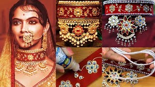 Download How to make Padmavati Jewelry at Home I DIY Chocker Video