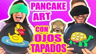 Download DIBUJANDO CON COMIDA CON LOS OJOS CERRADOS! RETO Pancake Art Challenge ft ArteMaster Video