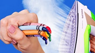 Download COLORFUL CRAYON IDEAS AND HACKS Video
