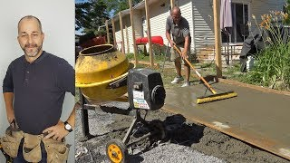 Download Pouring A Concrete Pad | How to Build a Shed | Part 2 Video