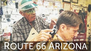 Download Old Time Classic HairCut and History Lesson with the Guardian Angel of Route 66 – Seligman AZ Video