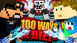 Download Minecraft: 100 WAYS TO DIE CHALLENGE - DOG SHOCK COLLAR CHALLENGE!! Video