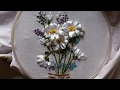 Download Ribbon embroidery stitches by hand tutorial. Ribbon embroidery designs for cushion covers. Video