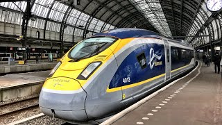 Download Eurostar London to Amsterdam - the VERY FIRST train! 4th April 2018 Video