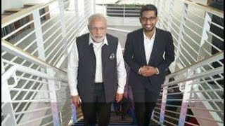Download Narendra Modi with Sundar Pichai, bond between India and Silicon Valley Video