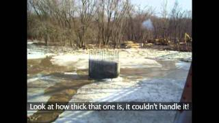 Download Ice breakup on the Skunk River at Augusta, IA Video