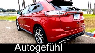 Download 2016 Ford Edge Sport Exterior Interior Driving shots & Assistances Systems - Autogefühl Video