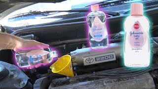 Download Can You Use BABY OIL as ENGINE OIL? Video
