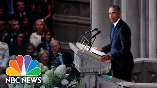 Download Barack Obama On John McCain: 'We Never Doubted We Were On The Same Team'   NBC News Video