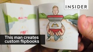 Download This man creates custom animated flipbooks Video