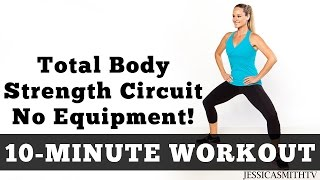 Download 10 Minute Total Body Strength No Equipment Workout Video