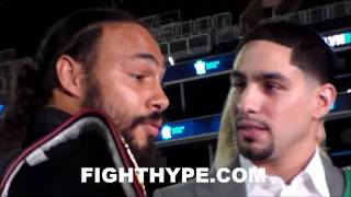 Download (WOW) KEITH THURMAN AND DANNY GARCIA COME FACE TO FACE AND TALK MAD TRASH DURING INTENSE STAREDOWN Video