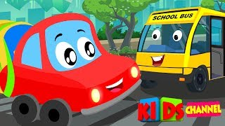 Download Little Red Car | Colors Cars Song | Nursery Rhymes Songs For Kids | car cartoons Video