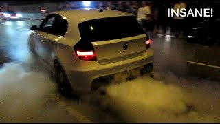 Download BMW 1 Series w. 640d Engine and Akropovic Exhausts - MAD Burnouts! Video
