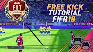 Download FIFA 18 EASY WAY TO ALWAYS SCORE FREE KICKS - UNSAVEABLE FREE KICK TECHNIQUE - SPECIAL TRICK Video