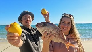 Download SHALLOW REEF FISHING - Catch n Cook (Lemon & Butter) Snapper! Cooked on small Island Video