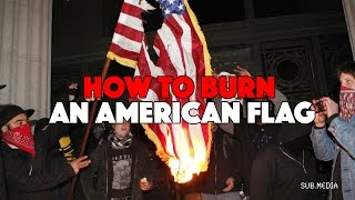 Download How To Burn An American Flag Video