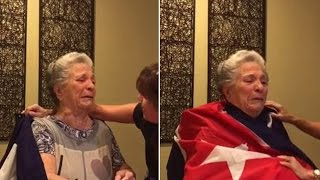 Download 85-Year-Old Cuban Grandma Sheds Tears of Joy After Fidel Castro's Death Video