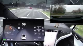 Download Tesla Model X - Autopilot Lane Changing to Shoulder, Active Spoiler, and Slipstream Video