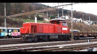 Download ► Bahnverkehr in Stein-Säckingen [19.12.14] Bm 4/4 mit Güterzug Video