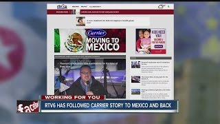 Download RTV6 follows Carrier story to Mexico and back Video