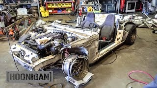 Download [HOONIGAN] DT 140: $200 Miata Death Kart Transformation (Part 1) Video