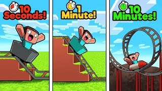 Download Minecraft - ROLLER COASTER CHALLENGE! (10 Sec vs 1 Min vs 10 Min) Video