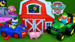Download Paw Patrol Toys Rescue Farm Animals John Deere Tractor Funny Toy Stories Play Doh Surprise Eggs Toys Video