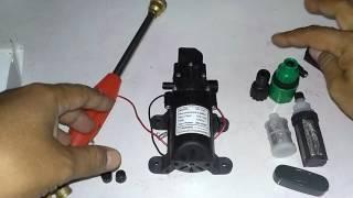 Download Merangkai pompa high pressure 12V 60W ″Rain & Dew″ menjadi alat cuci kendaraan/cuci AC Video