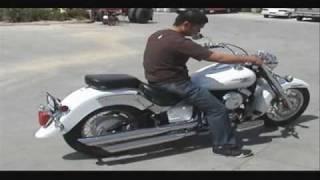 Download Yamaha V Star 650 Exhaust Stock VS Roadhouse Brand Moto Classics Video