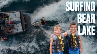 Download 🛥️ LEARNING HOW TO SURF BEHIND A BOAT IN BEAR LAKE 🏄 Video