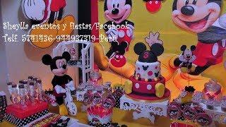 Download Decoración temática de Mickey, bebe, fiesta infantil, tortas, bocaditos personalizados, castillos Video