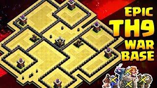 Download TH9 Anti 3 Star War Base 😱 Anti Lavaloon/Valk/Gohobo | Clash Of Clans Video