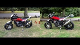 Download Husqvarna Nuda 900R Exhaust Showdown - Akra vs. Leo Video