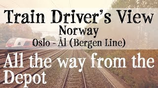 Download Train Driver's View: Oslo to Ål (Bergen Line) Video