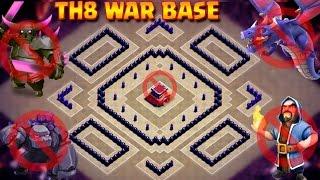 Download TH8 New War Base 2017 | UNBEATABLE Anti 2 Star Base | Anti Dragon | Anti GOWIPE Video