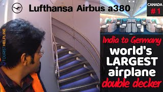Download Flying Largest Passenger Plane | Lufthansa: Delhi to Frankfurt (India To Canada) Video