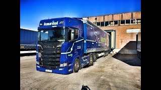 Download POV REVERSING MY SCANIA S520 + SEMI-TRAILER TO THE LOADING DOCK! Video
