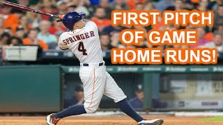Download MLB | FIRST PITCH OF GAME HOME RUNS | 1080p HD Video