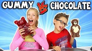 Download GUMMY vs CHOCOLATE Food Challenge!!! Video