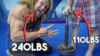 Download 110LB ROCK CLIMBER GRIPS MORE THAN ME Video