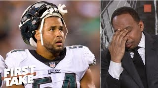 Download Stephen A. flabbergasted at Eagles LB Kamu Grugier-Hill's 'choke' remarks about Cowboys | First Take Video
