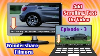 Download [Nepali] How To Add Scrolling Text on Video Using Filmora - Episode - 3 Video