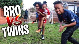 Download BRO vs TWIN SISTERS *IMPOSSIBLE* GARDEN FOOTBALL CHALLENGE Part 2 Video