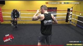 Download Carl Frampton media workout for Santa Cruz rematch. Video