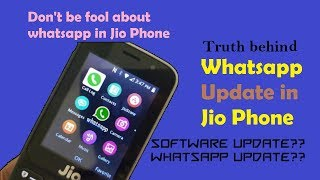 Download [New] Whatsapp update in Jio Phone || Myth || Reality check || Don't be fool || Video